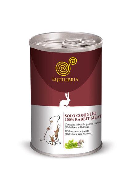 Консерва EQUILIBRIA за кучета с заешко месо
